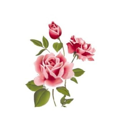 Rose Flower Removable PVC Wall Sticker Home decor