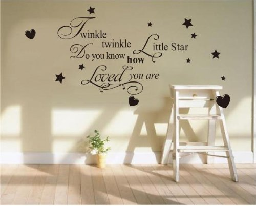 Twinkle Little Star Do You Know How Loved Wall Stickers Decal