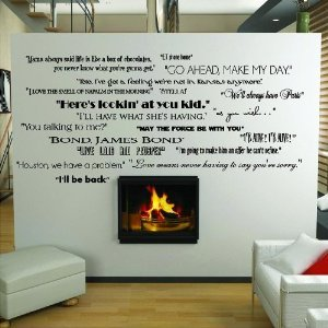 Classic Movie Quotes wall saying vinyl lettering home decor deca