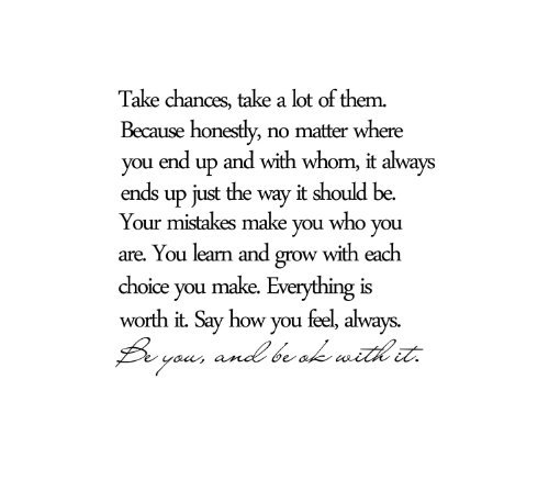 Take chances, take a lot of them wall decal