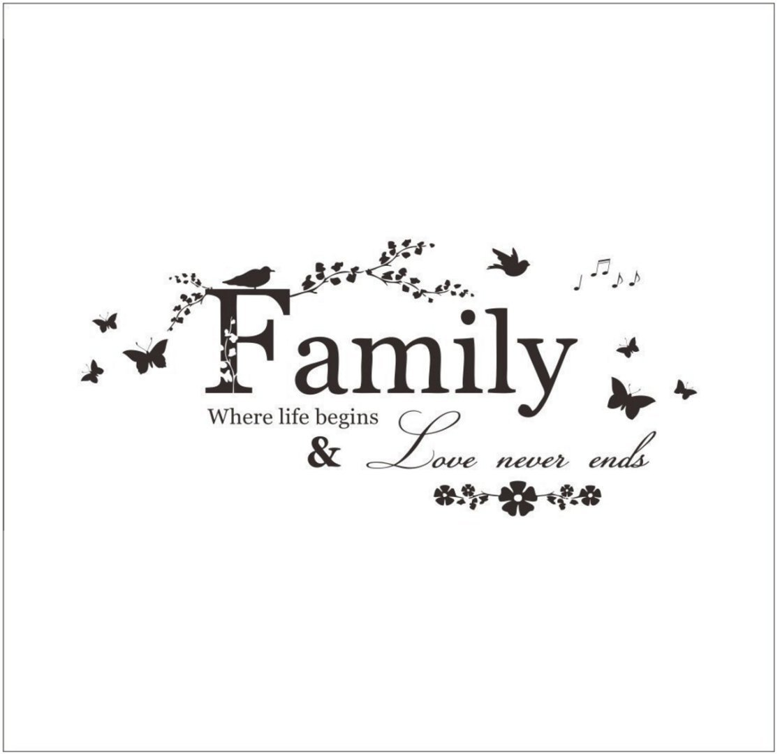 HOME Family Letter Quote Removable Vinyl Decal Art Mural