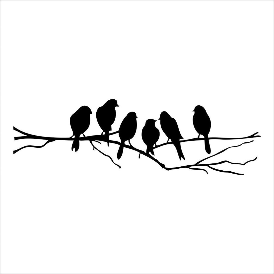 Bird Tree Branch Art Home Mural Decor