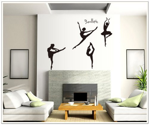 Four Girls Perform Ballet Wall Stickers Decal