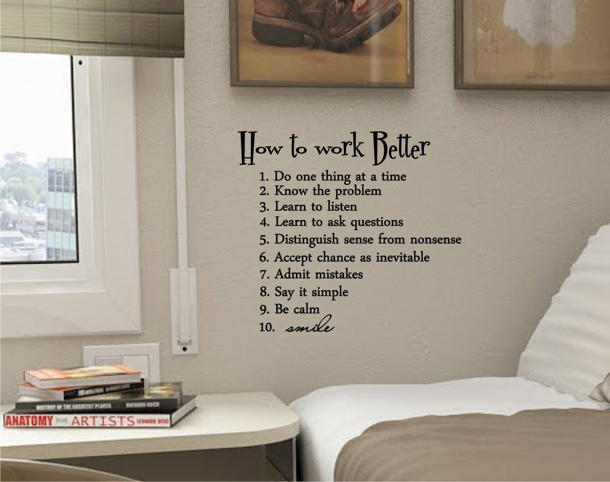 How to work better wall decal