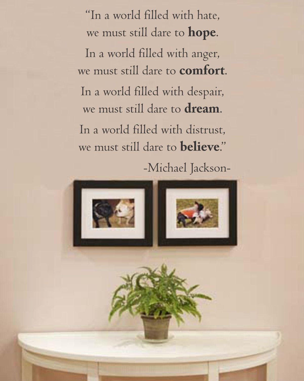 In a world filled with hate wall decal