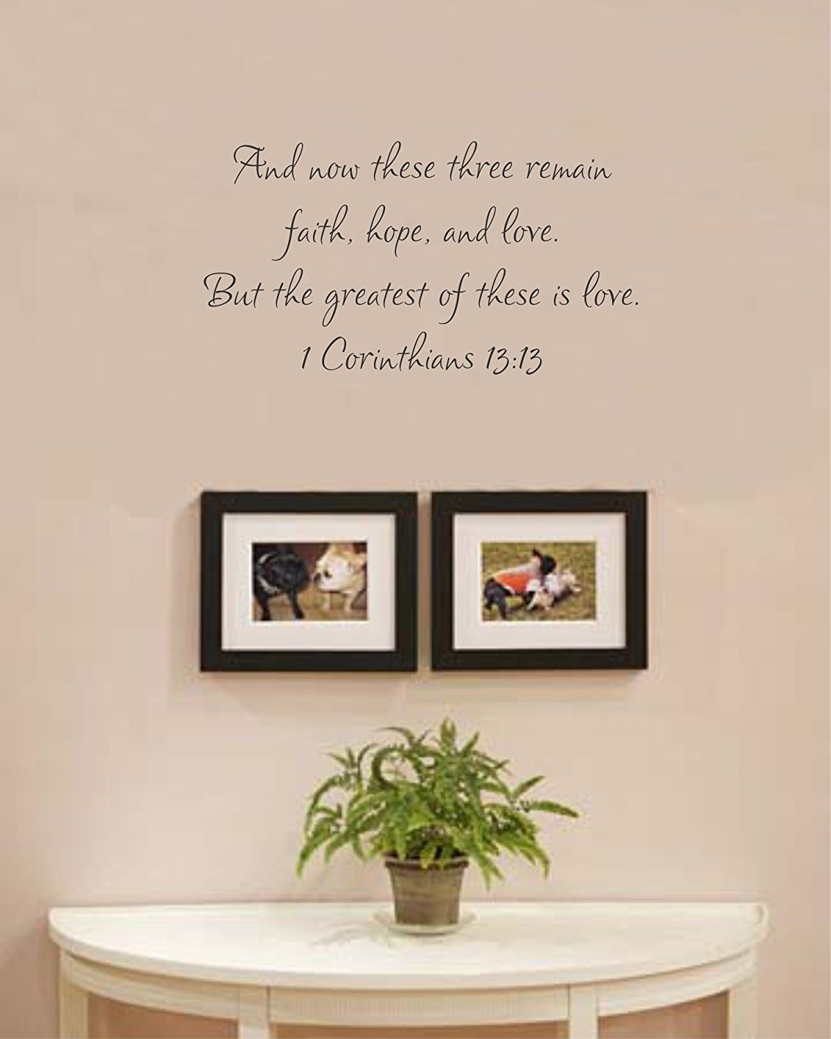 And now these three remain faith wall decal