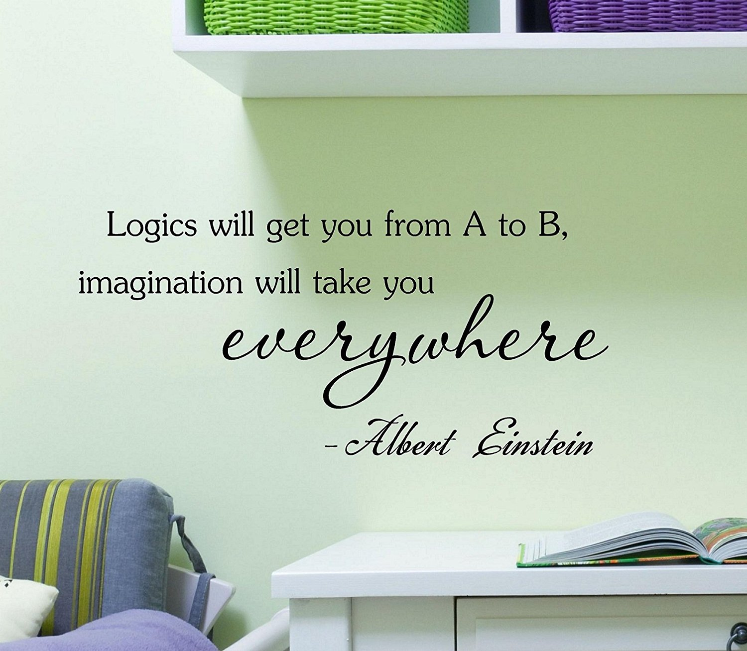 Logics will get you from A to B, imagination will take you every