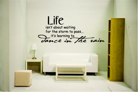 Life isnt about waiting for the storm to pass