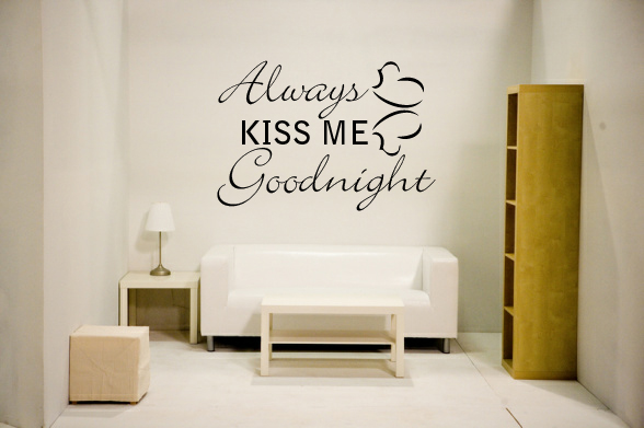 Always kiss me Goodnight (with hearts)