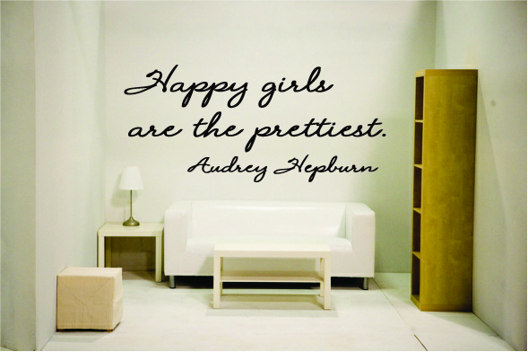 Happy girls are the prettiest. Audrey Hepburn - Click Image to Close